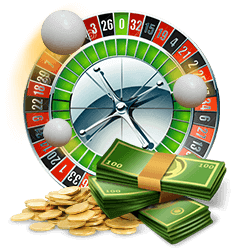Roulettewiel met geld